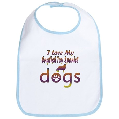 English Toy Spaniel designs Bib