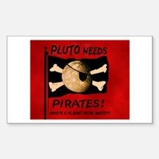 Planet Pluto Rectangle Decal