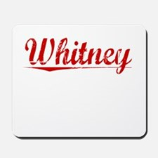 Whitney, Vintage Red Mousepad