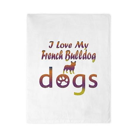 French Bulldog designs Twin Duvet