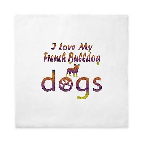 French Bulldog designs Queen Duvet