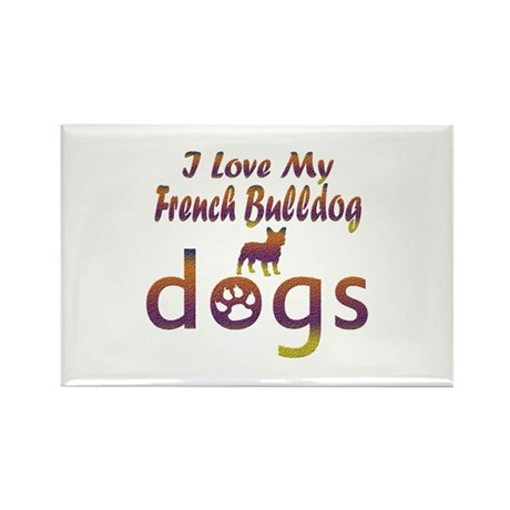 French Bulldog designs Rectangle Magnet (100 pack)