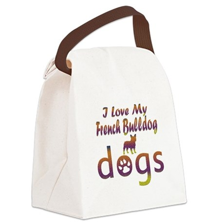 French Bulldog designs Canvas Lunch Bag