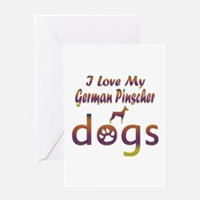 German Pinscher designs Greeting Card