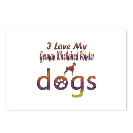 German Wirehaired Pointer designs Postcards (Packa