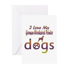 German Wirehaired Pointer designs Greeting Card