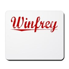 Winfrey, Vintage Red Mousepad