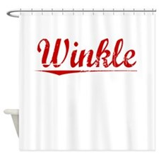 Winkle, Vintage Red Shower Curtain