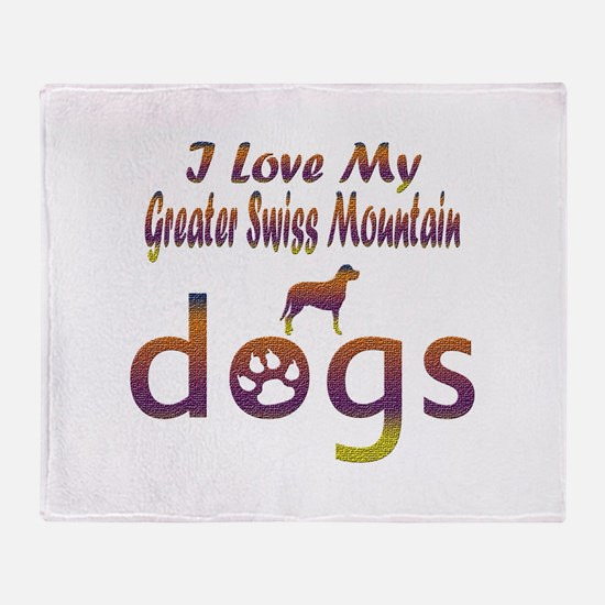 Greater Swiss Mountain designs Throw Blanket