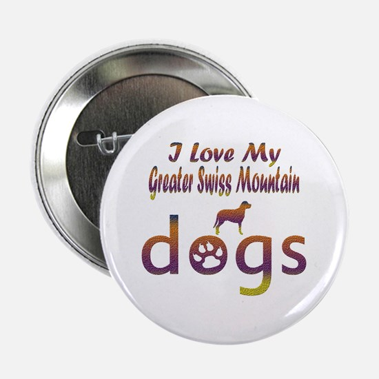 "Greater Swiss Mountain designs 2.25"" Button"