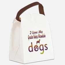 Greater Swiss Mountain designs Canvas Lunch Bag