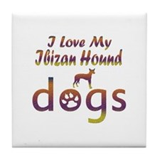 Ibizan Hound designs Tile Coaster