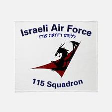 115 Sqdn IAF Throw Blanket