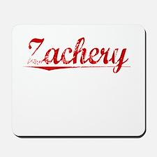 Zachery, Vintage Red Mousepad