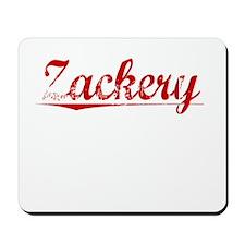 Zackery, Vintage Red Mousepad