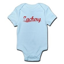 Zackery, Vintage Red Infant Bodysuit