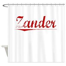 Zander, Vintage Red Shower Curtain