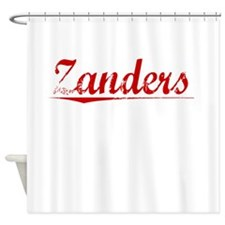 Zanders, Vintage Red Shower Curtain