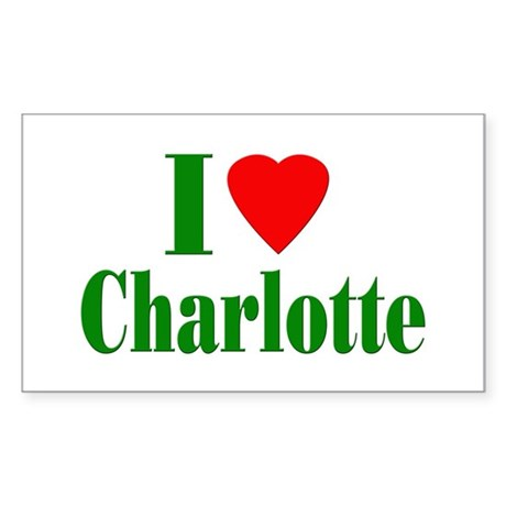 I Love Charlotte Rectangle Sticker