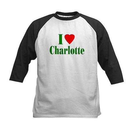 I Love Charlotte Kids Baseball Jersey