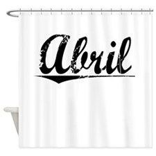 Abril, Vintage Shower Curtain