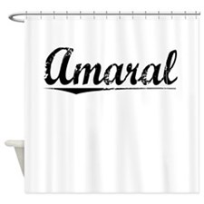 Amaral, Vintage Shower Curtain