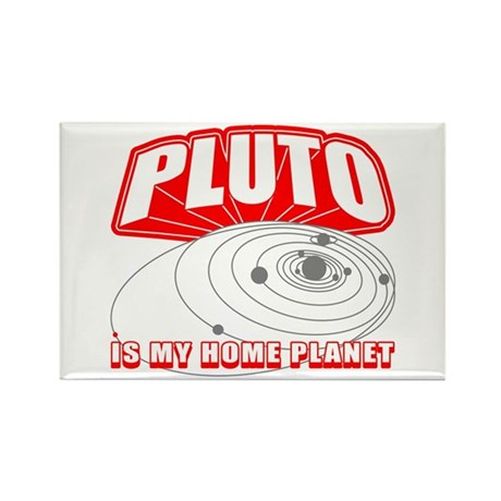 Pluto is my Home Planet Rectangle Magnet