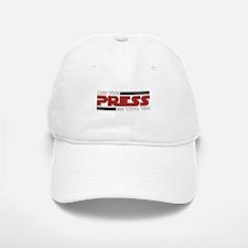 White Press Baseball Baseball Cap
