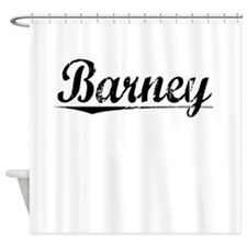 Barney, Vintage Shower Curtain