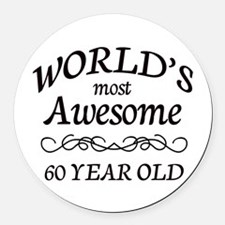 Awesome Birthday Round Car Magnet