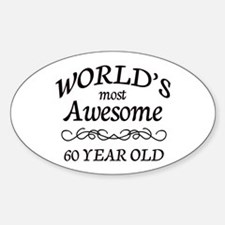 Awesome Birthday Sticker (Oval)