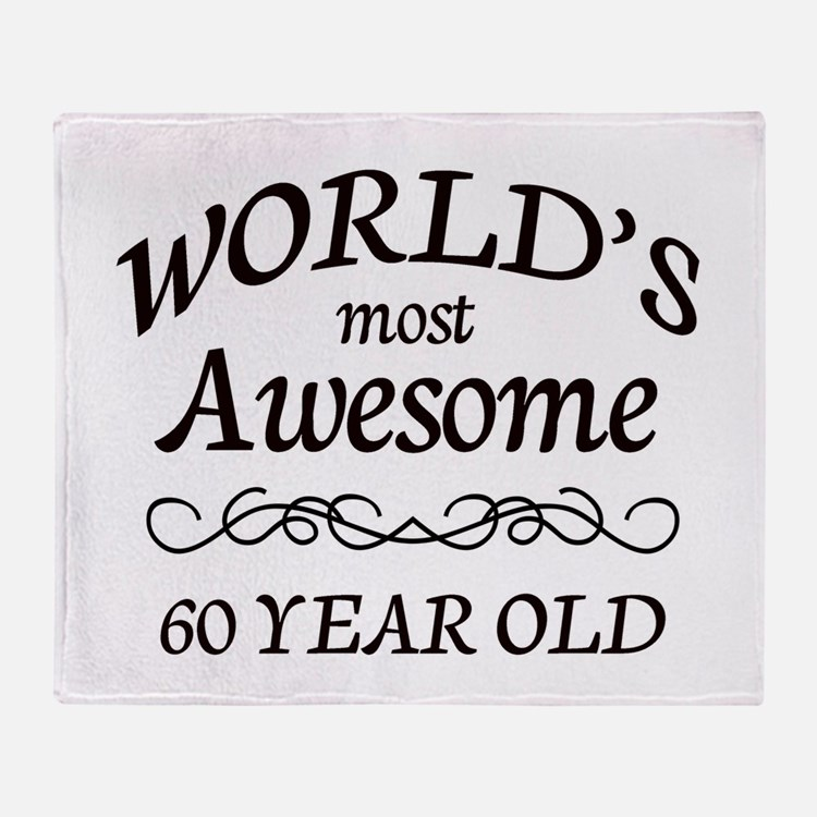 Awesome Birthday Throw Blanket