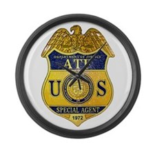 ATF badge Large Wall Clock