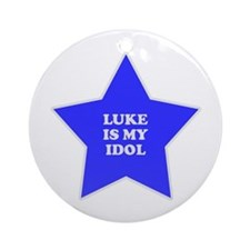 Luke Is My Idol Ornament (Round)