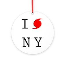 Hurricane Sandy New York Ornament (Round)