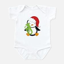 Tuba Christmas Music Penguin Infant Bodysuit