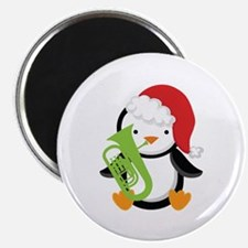 "Tuba Christmas Music Penguin 2.25"" Magnet (10 pack"