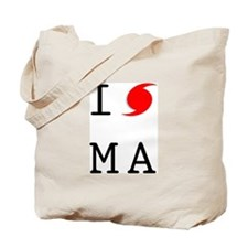 Hurricane Sandy Massachusetts Tote Bag