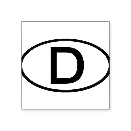 Germany - D - Oval Oval Sticker