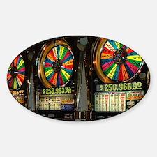Las Vegas Slots Sticker (Oval)