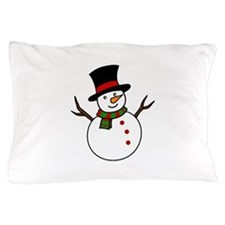 Snowman Pillow Case