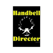 Handbell Director Black Rectangle Magnet