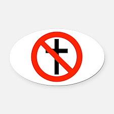 No Religion Oval Car Magnet
