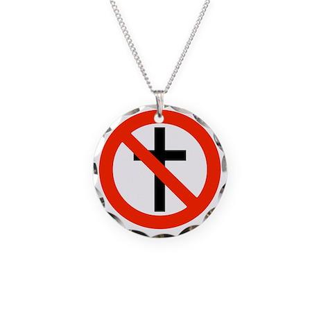 No Religion Necklace Circle Charm