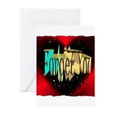 forget you art illustration Greeting Card