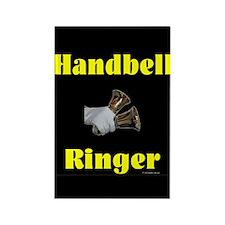 Handbell Ringer Black Rectangle Magnet