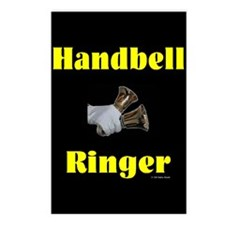 Handbell Ringer Black Postcards (Package of 8)