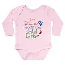 Kids Future Postal Worker Long Sleeve Infant Bodys