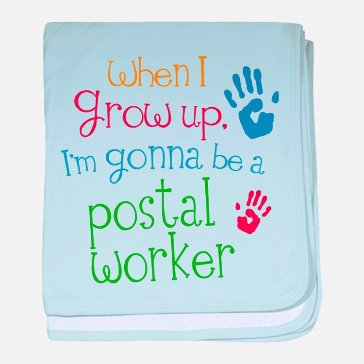 Kids Future Postal Worker baby blanket