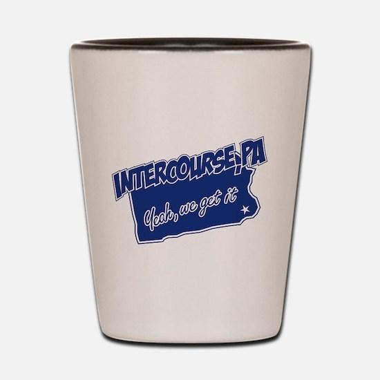 Intercourse Get It Shot Glass